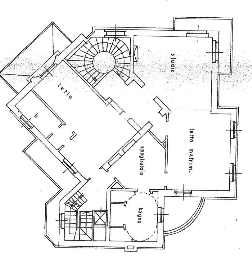 Reggia 1000mq immobiliare studio13 for Planimetrie a un piano con due master suite